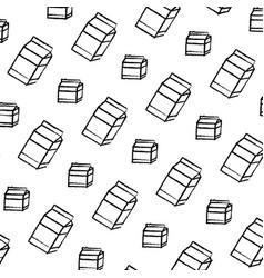Grunge healthy milk box drink background vector