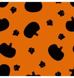 Halloween seamless pattern with dark pumpkins vector image