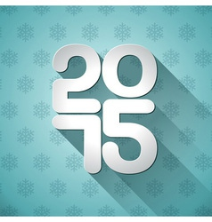 happy new year 2015 typographic design vector image