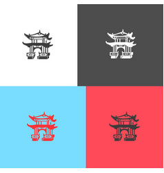 icon of japanese architecture vector image