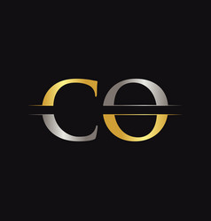 initial co letter logo with creative modern vector image