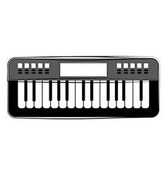 Isolated keyboard sketch musical instrument vector
