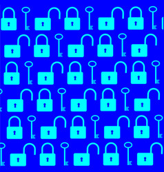 key and lock background vector image