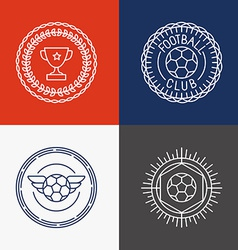 linear football badge and emblems vector image