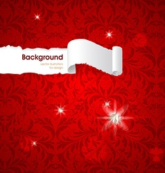 Luxury Red Seamless Wallpaper vector image