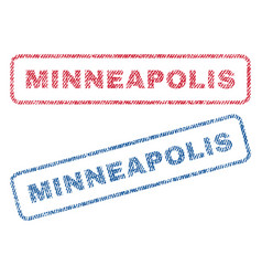 Minneapolis textile stamps vector