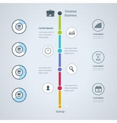 Modern infographics set Timeline Infographic vector image