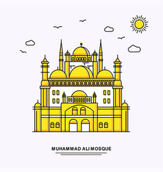 Muhammad ali mosque monument poster template vector