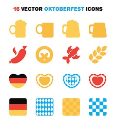 Oktoberfest icons set vector image