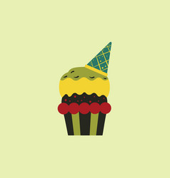 Party cupcakedessert vector