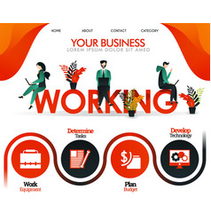 people are working on word working can use vector image