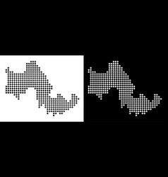 Pixel tilos greek island map vector