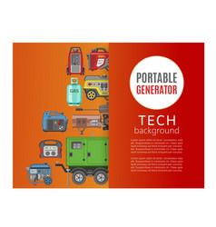 Portable generator tech background banner vector