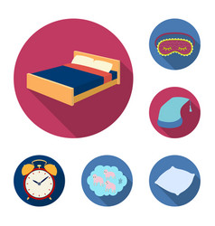 rest and sleep flat icons in set collection for vector image