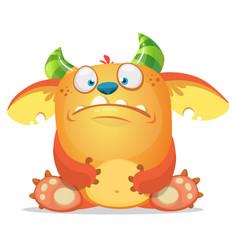 Sad cartoon monster vector