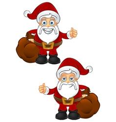 Santa Claus Thumbs Up vector image