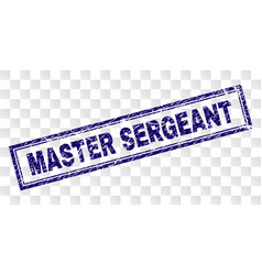 Scratched master sergeant rectangle stamp vector