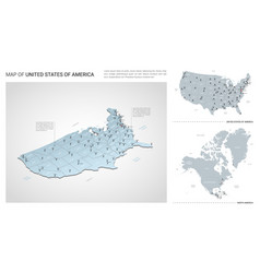 set united states america country isometric vector image