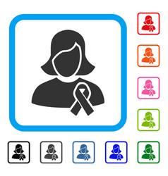 Solidarity tie framed icon vector
