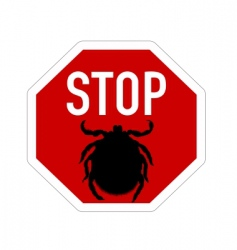 Stop sign for ticks vector