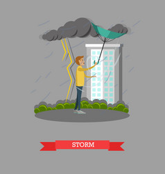 Storm concept in flat style vector