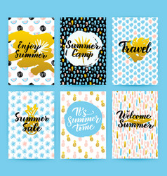 summer trendy hipster posters vector image vector image