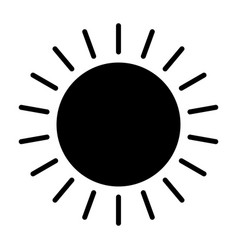 sun icon simple minimal 96x96 pictogram vector image