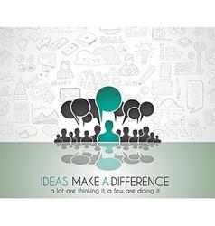 Teamwork Brainstorming communication concept art vector