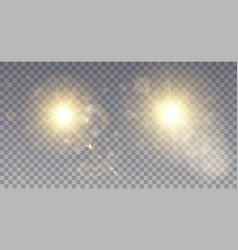 two sparkling lens flare effects vector image