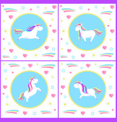 unicorns design of mythological creature vector image