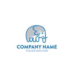 unique elephant logo vector image