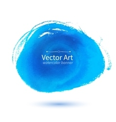 Watercolor blue stain vector image