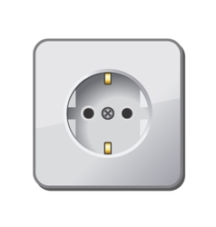 White Electric Outlet vector