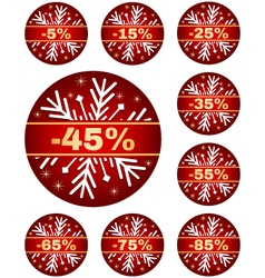 Winter sale tags 2 vector