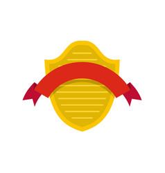 badge premium icon flat style vector image vector image