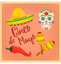 Cinco de Mayo Mexican festival vector image vector image
