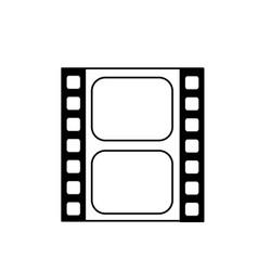 Line filmstrip to studio scene in projection vector