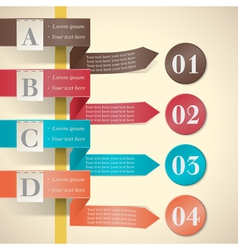 options ribbons and labels vector image