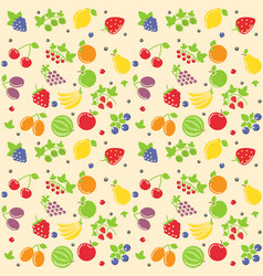seamless fruit texture vector image vector image