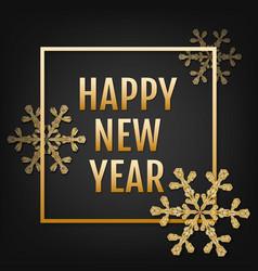 winter typographic new year vector image vector image