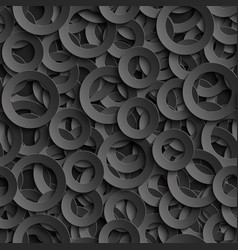 3d seamless pattern with paper cut out circles vector image vector image