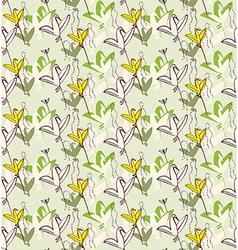 Birds as flowers Invitation greeting postcard vector image