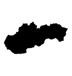 black silhouette country borders map of slovakia vector image vector image