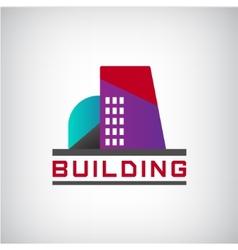 building logo colorful construction vector image