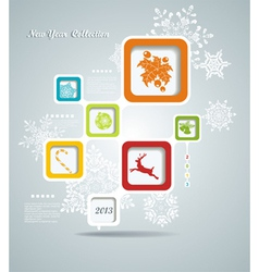 Christmas background with retro bubbles vector image