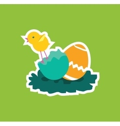 Easter Chicken Icon Egg Design Flat vector image vector image