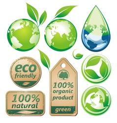 green environmental set vector image