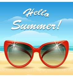 Hello Summer Theme vector image vector image