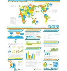 INFOGRAPHIC DEMOGRAPHICS POPULATION 2 SPECIAL vector image vector image