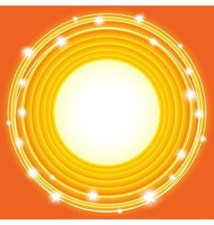 orange stars background vector image vector image